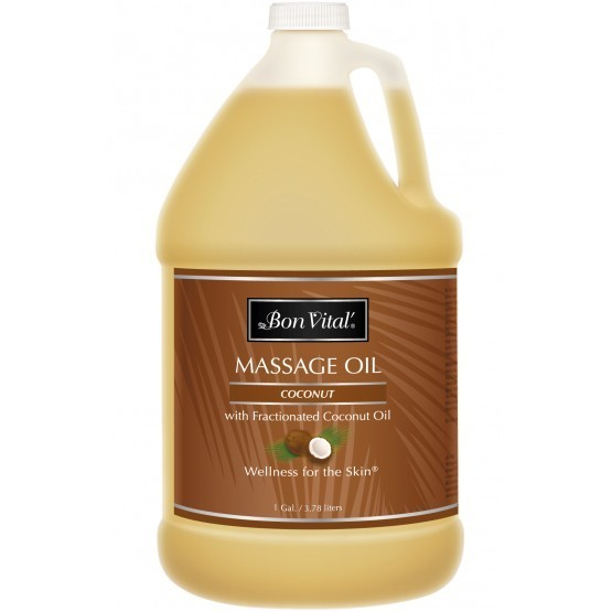 Bon Vital Coconut Massage Oil 1 Gallon Bottle