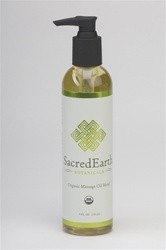 Sacred Earth Organic Massage Oil Blend 8 oz
