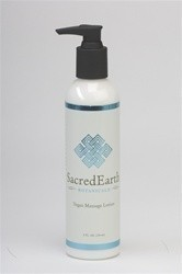 Sacred Earth Vegan Massage Lotion 8 oz