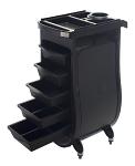 Nova Salon Cart Plastic 5-Drawer Workstation on Wheels