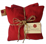 Hot Cherry 3D Triple Square Red Denim Therapeutic Pillow