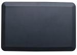 "Black Rectangular Anti-Fatigue Floor Mat - 30.5"" x 20"""