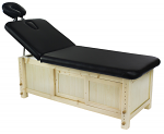 Black Massage Table & Facial Treatment Bed