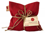 Hot Cherry 1D Square Red Denim Therapeutic Pillow