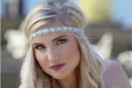 Pink Pewter Kaylee Stretch Band