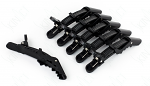 SkinAct Black Comfort Grip Alligator Clips 6pcs
