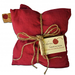 Hot Cherry 2D Double Square Red Denim Therapeutic Pillow