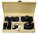 60 Piece Kit Basalt Lava Hot Stone Massage
