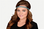 Pink Pewter Ginny Stretch Band