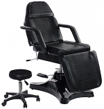 Black Hydraulic Facial Chair With Free Beauty Stool (Massage Table, Chair)