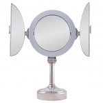 Zadro Surround Lighted Tri-Fold Vanity Mirror Dual-Sided 1X/10X