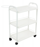 Three Level Shelves Plastic Trolley Cart