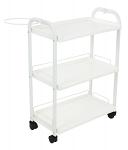 Three Level Shelves Plastic Trolley Cart