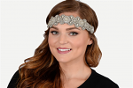 Pink Pewter Lizzy Stretch Band