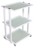 Pro Glass Cart With 3 Shelves