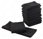 SkinAct Microfiber Towel In Black 10pcs