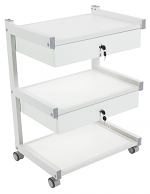 Solo Lockable Double Drawer Cart